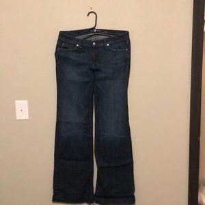 Women's 7 For All Mankind dojo jeans size 31 x 34